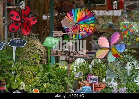 France. Paris (75), 4th arrondissement. Ile de la Cite, Place Louis Lepine, Flower market renamed 'Marche aux fleurs - Stock Photo