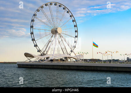 Baku ferris wheel, Baky eye on Seaside boulevard. Azerbaijan - Stock Photo