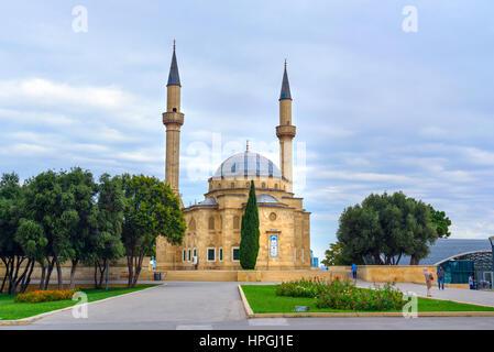 Baku, Azerbaijan - September 11, 2016: Mosque of the Martyrs or Turkish Mosque, near the Martyrs' Lane - Stock Photo