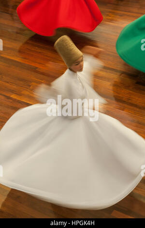 Whirling Dervish,Istanbul,Turkey - Stock Photo