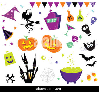 5633029 - halloween vector icons set iii. halloween vector icons in red color. - Stock Photo