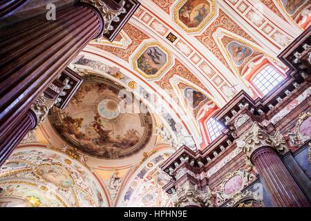 Ceiling of ST Stanislaw´s Parish Church, Poznan, Poland. - Stock Photo