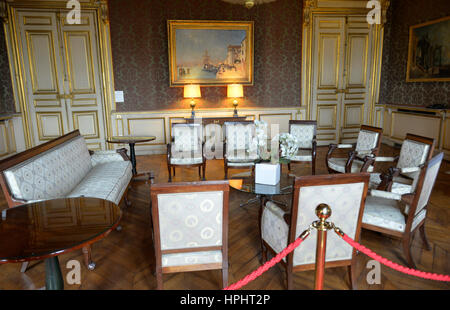 France, Paris, Ministry of Foreign Affairs during the European Heritage Days, 2014 edition, sitting room - Stock Photo