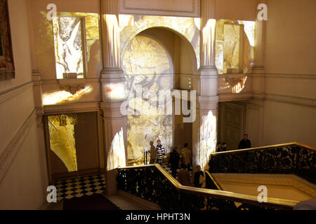 France, Paris,Ministry of Foreign Affairs during the European Heritage Days, 2014 edition, stairs - Stock Photo