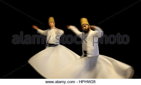 Turkey. Istanbul. Sema. Sufi Whirling Dervishes - Stock Photo