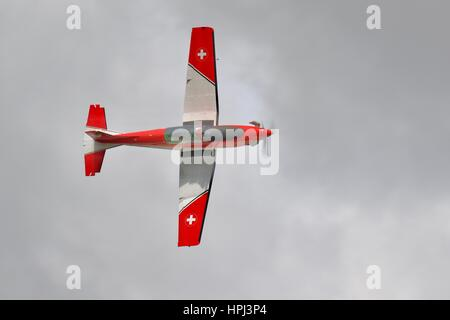 Swiss Air Force PC-7 Aerobatic Team - Stock Photo
