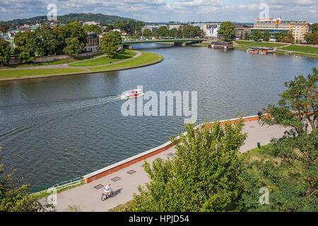 Vistula River, Krakow, Poland - Stock Photo