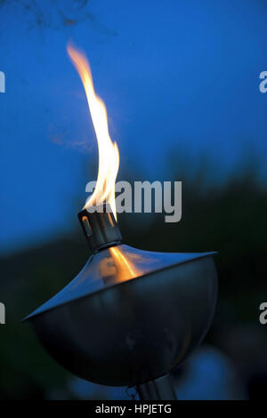 Brennende Fackel - burning torch - Stock Photo