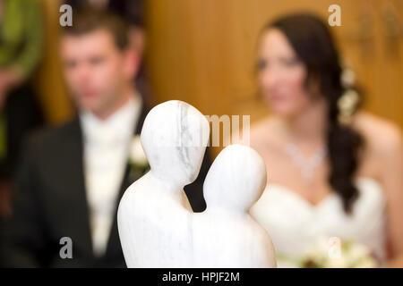 Model released , Standesamtliche Trauung - civil marriage Stock Photo