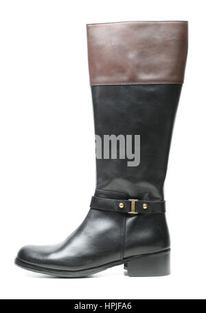 a797311b865 Tall knee high black combat fashion goth punk oi boots with screwed ...