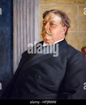 William Howard Taft. Portrait of the 27th President of the USA, William Howard Taft (1857-1930) by William Valentine - Stock Photo