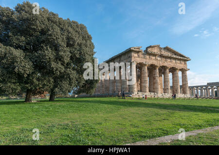 Paestum, temple, archeological area, south of Italy - Stock Photo