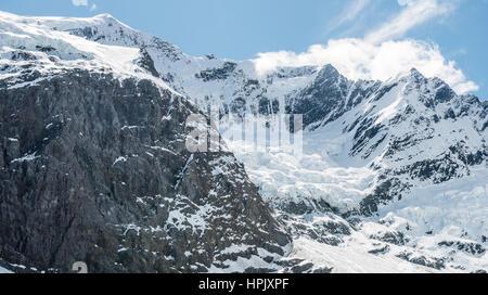 Rob Roy Glacier, Mount Aspiring National Park, Otago, Southland, New Zealand - Stock Photo