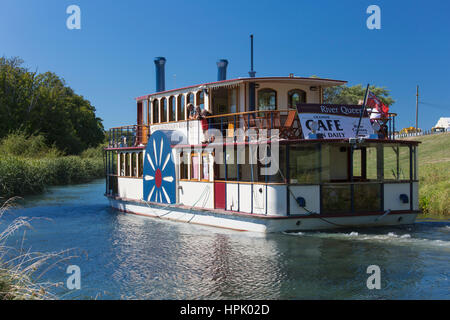 Blenheim, Marlborough, New Zealand. Marlborough's River Queen at the confluence of the Taylor and Opaoa (Opawa) - Stock Photo