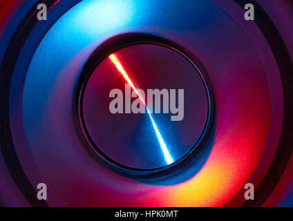 full frame abstract colorful loudspeaker detail - Stock Photo
