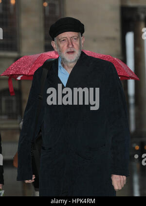 Jeremy Corbyn Leader of the Labour Party attends the BBC Andrew Marr Show at the BBC Studios in London, 15th Jan - Stock Photo