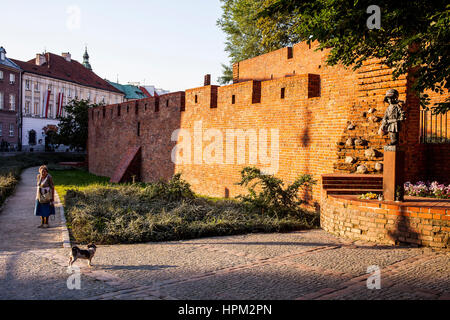 The little Insurgent Statue close the city walls,, Warsaw, Poland - Stock Photo