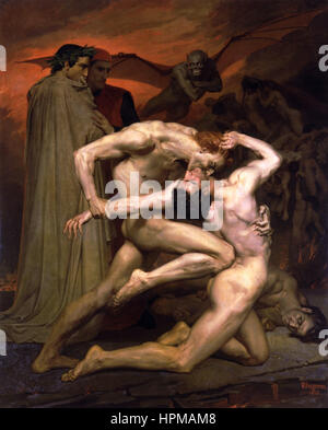 William-Adolphe Bouguereau (1825-1905) - Dante And Virgil In Hell (1850) - Stock Photo