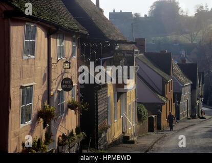 Kersey village. Suffolk. England. UK