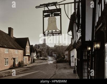 Kersey village. Suffolk. England. UK - Stock Photo