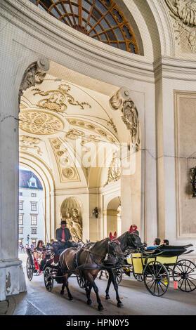 Austria, Vienna, Hofburg, St. Michael's Wing, interior view of St. Michael's Gate - Stock Photo