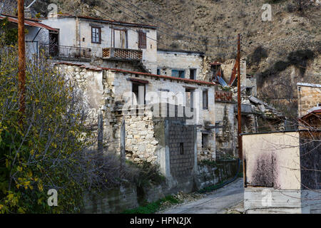 The abandoned village of Old Theletra, Cyprus - Stock Photo