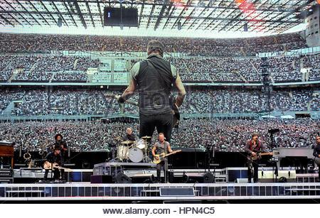 bruce springsteen in concert,san siro stadium,milan 03-07-2016 - Stock Photo