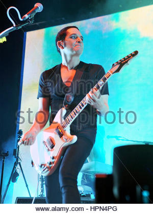 placebo in concert,forum di assago,milan 15-11-2016 - Stock Photo