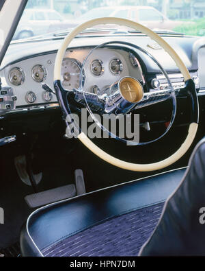 1956 De Soto Firedome dashboard - Stock Photo