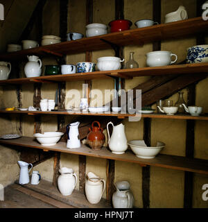 Shelves of tablewear. - Stock Photo