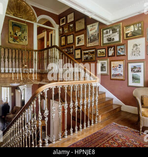 A Victorian staircase. - Stock Photo