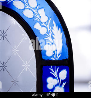 A stained glass window. - Stock Photo