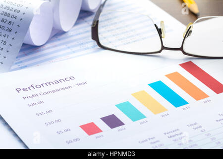 Business performance analysis with colorful bar graph and calculator business performance analysis with colorful bar graph and calculator stock photo ccuart Gallery