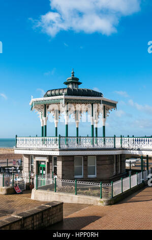 The bandstand was designed by the Brighton Borough Surveyor, Phillip Lockwood, and completed in 1884. It was restored - Stock Photo