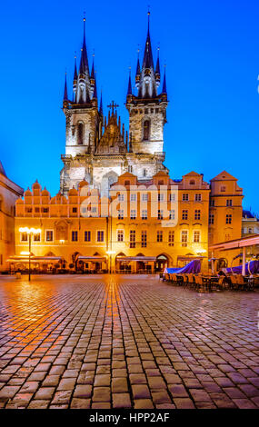 One Of The Prague Symbols Church Of Our Lady Of Tyn With Gothic