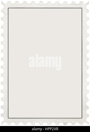 Postage Stamp With Perforated Border Stock Photo, Royalty Free