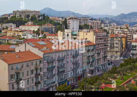 View from the Museum of Modern and Contemporary Art (MAMAC) in Nice, south of France - Stock Photo
