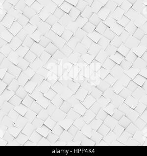 abstract background made of diagonal arranged cubes in grayscales (seamless 3d illustration) - Stock Photo
