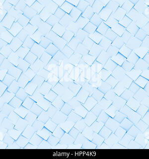 abstract background made of diagonal arranged cubes in shades of blue (seamless 3d illustration) - Stock Photo