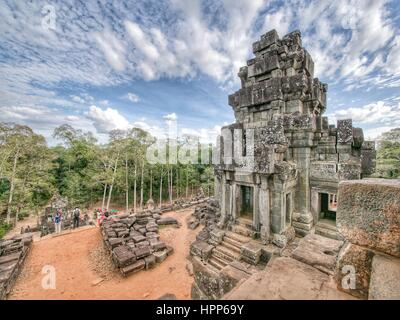 Temple at angkor wat site - Stock Photo