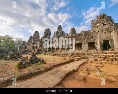 Temple bayon at angkor wat - Stock Photo