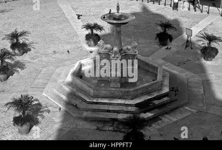 Fuente de los Leones, Plaza de San Francisco, City of Havana, Cuba - Stock Photo