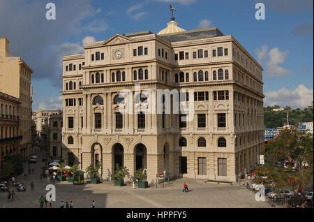 The former Stock Exchange, Lonja del Comercio, City of Havana, Cuba - Stock Photo