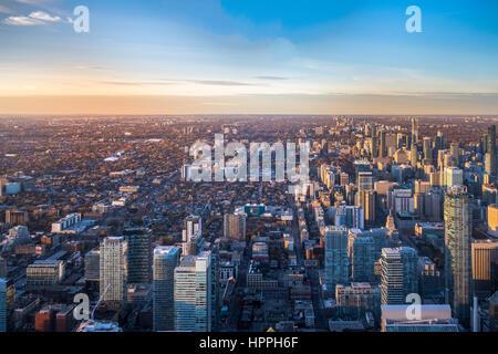 View of Toronto City from above - Toronto, Ontario, Canada - Stock Photo