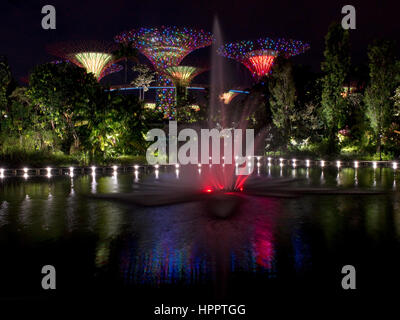 supertrees in the grounds of the gardens by the bay during ocbc garden rhapsody light - Garden By The Bay Music