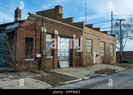 Old Abandoned Industrial Building In The Midwest Usa