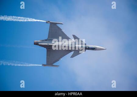 SAAB Gripen Military Jet - Stock Photo
