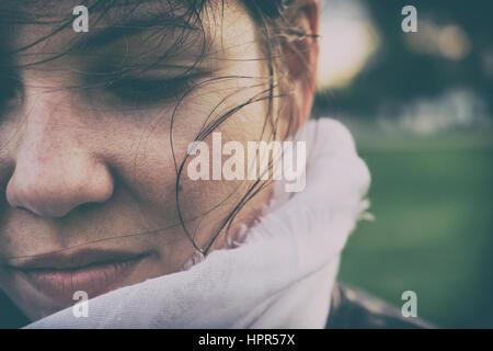 Sad woman concept - Stock Photo