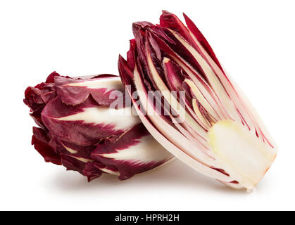 sliced red chicory isolated - Stock Photo