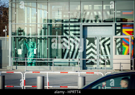 Embassy of the United States of America, Berlin, Germany - Stock Photo